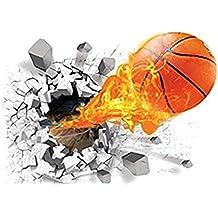 Fablcrew Adhesivos de Pared Estéreo 3D Creativos con Patrón de Baloncesto