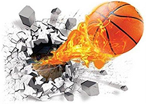 Aufkleber Basketball (Demarkt 3D Basketball Wandtattoo Wandaufkleber Wandsticker Wanddeko Wandkunst selbstklebend Aufkleber)