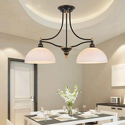 YYF candelabro Lámparas de América Europea Jardín Iluminación Forja simple Lámparas de techo de doble succión luces colgantes Lámparas simple retro europeo E27 eficiencia energética A +
