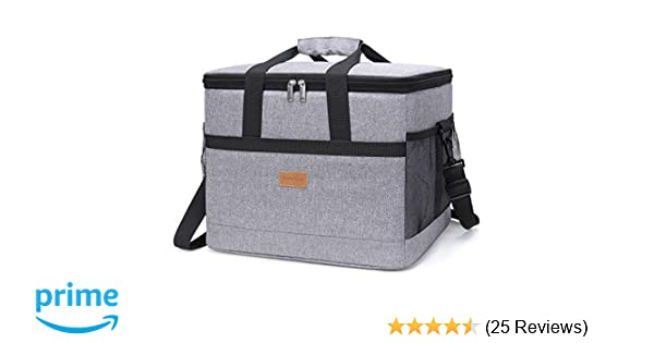 de868cb244d9 Lifewit Large Capacity Cooling Bag, Insulated Lunch Box, Soft-Sided for  Beach/Picnic / Camping/BBQ /Travel, 30L