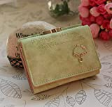 #10: Lorna Women/Girl's Faux Leather Card Holder Mini Wallet Clutch Green/Blue/Pink