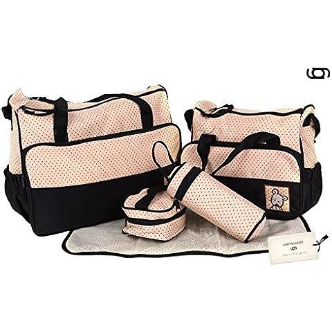 GARY&GHOST Set 5 Kits Bolsa con Cambiador a Juego Bolso Cambiador Bolso de mama Todo en Uno