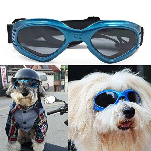 Zongsi Hundebrille Fashion Haustier Hund Sonnenbrille Eye Wear Hund Wasserdicht Schutz UV Sonnenbrille Schutzbrille für kleine Mittelhunde(Blau)