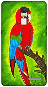 The Racoon Grip Macaw hard plastic printed back case / cover for Oppo R7 Plus