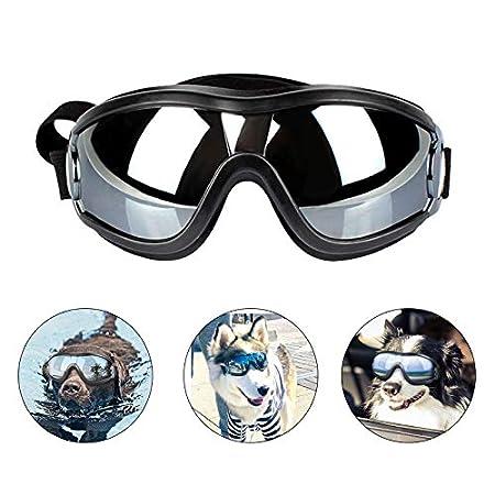 PEDOMUS Hundebrille Netive Haustier-Sonnenbrille Wasserdicht Winddicht Augenschutz für Groß Hund