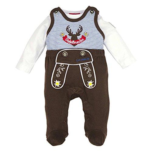 BONDI Strampler ´Gipfelkraxler´, braun 56 Tracht Baby Jungs Artikel-Nr.91008