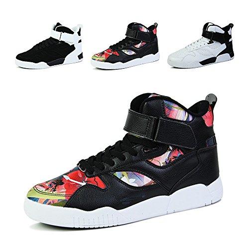 ZOCAVIA Herren Damen Sneaker High-Top Sportschuhe Ultra-Light Basketballschuhe Freizeit Skateboardschuhe