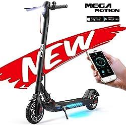 Mega Motion Trottinette Électrique Pliable avec APP, Scooter Patinette Double Système Freinage pour Adultes - M5 (Black).