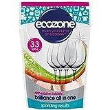 Écozone Brillance Tout En Un Tablettes Lave-Vaisselle 33 Par Paquet - (Paquet de 6)