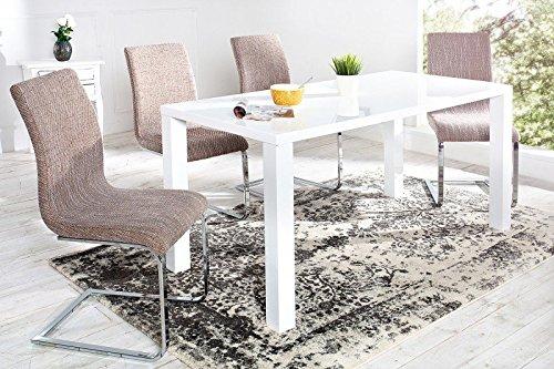 DuNord Design Stuhl Freischwinger RIVIERA coffee braun Chrom