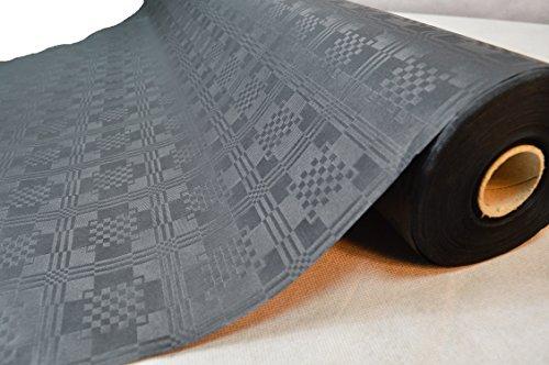 50 Meter Lang 100 Cm Breit Farbe: Schwarz Tischdecke Papier Damastprägung Tischtuch Papierttischdecke Decke Rolle Papiertischdeckenrolle Papierdecke