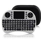 ipazzport kp-810–212.4G Wireless 92Tasten Tastatur mit Touchpad für Google TV Box/PS3/PC weiß