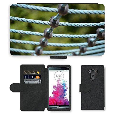 PU Leder Wallet Case Folio Schutzhülle // M00290394 Spielplatz Turngeräte // LG G3