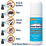 Home Guard Pest Deterrent Spray - Advanced Pest Control - The Ultimate Humane Pest Control Spray - 100 % Organic Way To Keep Pests Away - Totally Poison Free & 100% Non-Toxic To Humans & Pets! Keep Rodents, Spiders, Rats, Mice And Many More Away! The Powerful Home Pest Control Solution! Spray - Wait - Eliminate