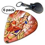 Hindu Goddess Power Durga Tiger Buddhist Hindu Celluloid Guitar Picks 6 Pack.71mm