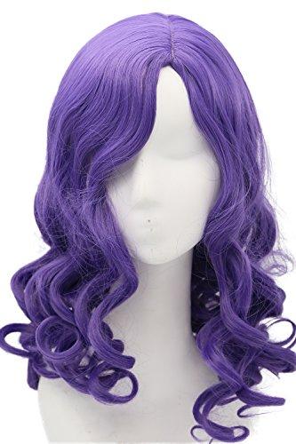m Cosplay Kostüm Costume Lila Lang Lockig Wellig Haar Zubehör Hair Accessories ()