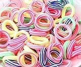cuhair 100-teiliges, farbenfrohes Haarband-Set, elastische Haargummis, Haaraccessoires für Kinder, Babys, Mädchen und Haustiere