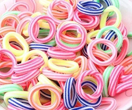 cuhair 100Kinder Baby Colorful Pferdeschwanz Halter Haar Krawatte Elastic Haar Band Pets Mädchen Haar Zubehör Scrunch (Kinder Pferdeschwanz-halter)