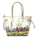 Borsa donna Y Not London Flower J-319 Shopping grande