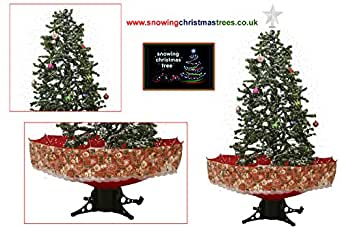 Snowing Christmas Tree with Red Umbrella Base - 2016 - 5 New Features
