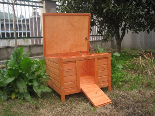 BUNNY BUSINESS Rabbit/ Guinea Pig Giant Hide House/ Run Hutch, Extra Large, 60 × 47 × 50 cm 4