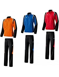 Erima Damen Trainingsanzug Jogginganzug Razor Line Orange Rot Blau