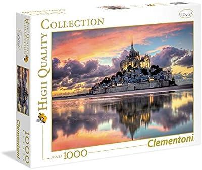 Clementoni - Puzzle 1000 piezas le magnifique mont saint - michel (39367)