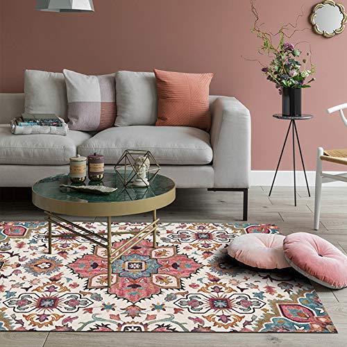Loartee Boho-Teppich mit Vintage-Blumendesign für Wohnzimmer, Heimdekoration, Textil, Multi