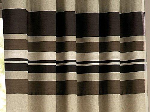 Curtina Harvard' Lined Eyelet Curtains 90×108 (229 x 274 cm), Chocolate