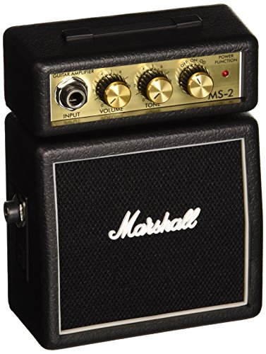 MARSHALL MS 2   AMPLIFICADOR PARA GUITARRA ACUSTICA (2W  6 3 MM)  COLOR NEGRO