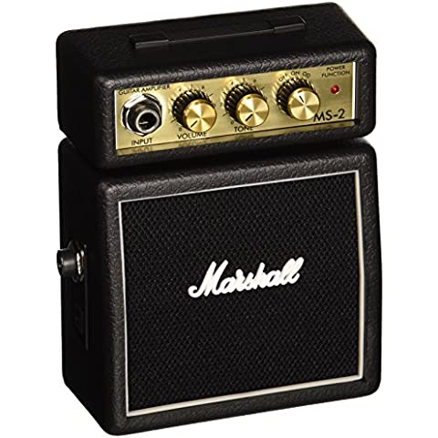 Marshall MS-2 - Amplificador para guitarra acústica (2W, 6.3 mm), color negro
