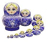 nicole Russische Matroschka Puppe Doll Souvenir Matrjoschka Babuschka 10 Stücken (a)