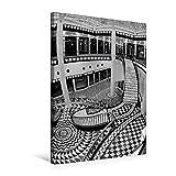 Premium Textil-Leinwand 50 cm x 75 cm hoch, Quartier 206 - Friedrichstadt-Passagen in Berlin-Mitte | Wandbild, Bild auf Keilrahmen, Fertigbild auf ... BERLIN in Schwarzweiss (CALVENDO Orte)
