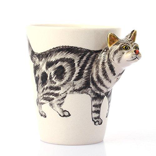 Lole pintado a mano tazas de cerámica, forma de ciervo animal Taza de