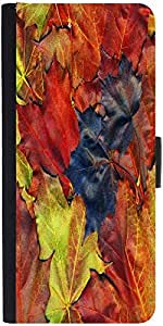 Snoogg Background Made Of Red Maple Leaves Designer Protective Phone Flip Case Cover For Samsung Galaxy J2
