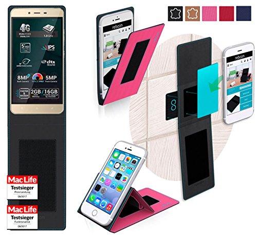 reboon Hülle für Allview P7 Pro Tasche Cover Case Bumper   Pink   Testsieger