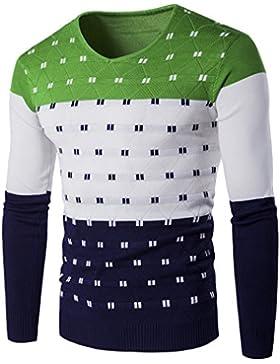 LemonGirl Jersey de jersey con cuello en color para hombre