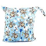 hibote wasserdichtes Baby-Wickeltaschen, waschbar Doppel-Reißverschluss-Windel-Beutel-Organisator, Säuglingswiederverwendbare Tuch-Windel-Beutel, bunte Nappy Wickeltasche für Mums Style 13