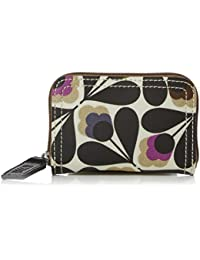Womens Medium Zip Wallet Wallet Multicolour (Stone) Orla Kiely