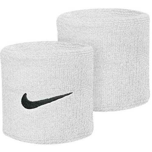 Nike SWOOSH Wrist Bands White/Black