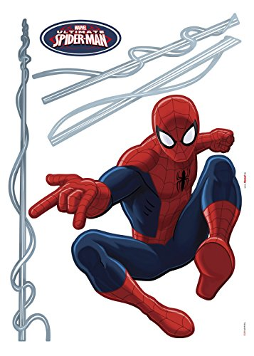 Komar - Marvel - Deco-Sticker SPIDER-MAN - 50 x 70 cm - Wandtattoo,  Wandaufkleber, Wandsticker, Wandbild, Superheld, Spinne, Comic, NYC - 14041h