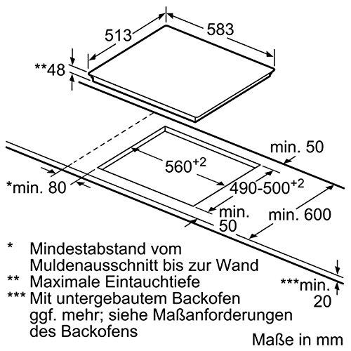 Neff TD 1342 N Kochfeld Elektro / CERAN®/Glaskeramik / 58,30 cm / Kochstelle / edelstahl - 5