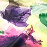 Watercolor Microfaser Velour Samt weich floral Print Design