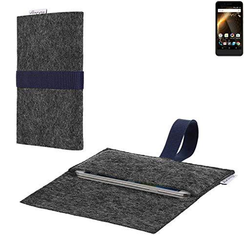 flat.design vegane Handy Hülle Aveiro für Allview P6 Energy Mini passgenaue Filz Tasche Case Sleeve Made in Germany