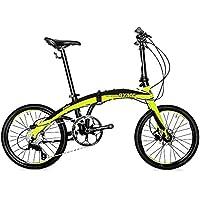 Rymebikes Pro II Bicicleta Plegable, Unisex Adulto, Verde, Talla Única