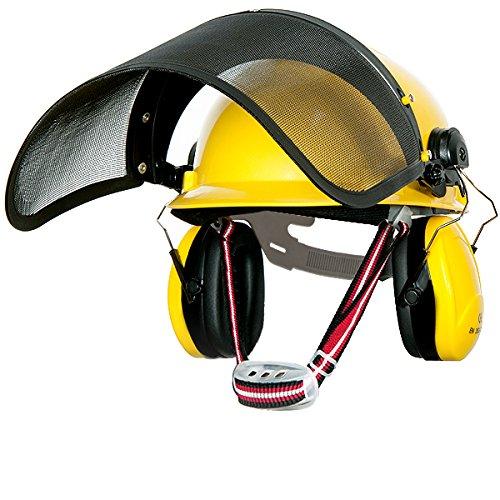 Forstschutzhelm Sicherheitshelm Forsthelm Helmset mit Hörschutz und Gesichtschutz