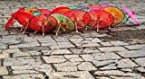 Bruce Behnke / DanitaDelimont – Umbrellas For Sale on the Streets of Jinan Shandong Province China...