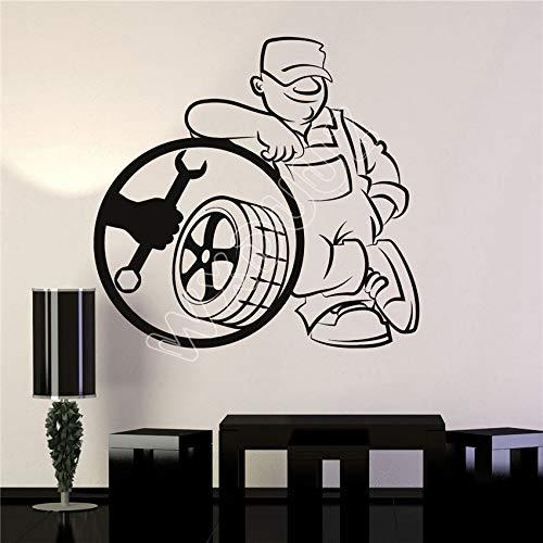 Adesivi Murales Vinile Adesivo Servizio Pneumatici Riparazione Auto Garage Decor Adesivi Murali Decorazioni Per La Casa Wall Sticker,