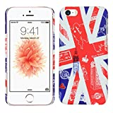 Heartly Flag Printed Design High Quality Hybrid Tough Armor Hard Bumper Back Case Cover For Apple iPhone 5 5S 5G / iPhone SE - England Amazon