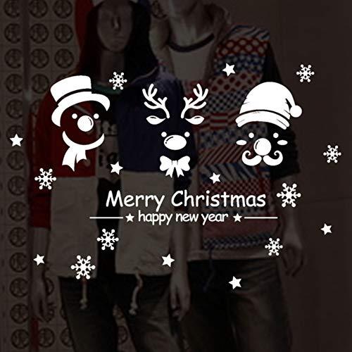 Pbldb 74X50 Cm Bonne Année Joyeux Noël Flocon De Neige Autocollant Mural Home Shop Windows Stickers Décor De Noël Décorations Pour La Maison